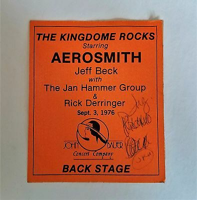 "*RaRe* (1976) AEROSMITH jeff beck ""Kingdome Rocks"" All Access Backstage PASS"