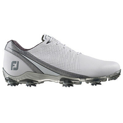New Mens FootJoy 2016 DNA Golf Shoes White / Silver - Choose Size!