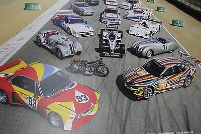 2017 100 Years of BMW Competition Racing LeMans Poster - ALMS Camel GT