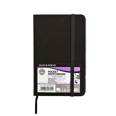 Daler Rowney Pocket Sketchbook Hardcover 9x14cm 144 pages Acid Free