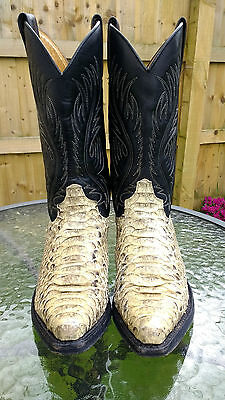 SENDRA Western COWBOY BOOTS, Real SNAKESKIN / Spanish Leather, size 5/38