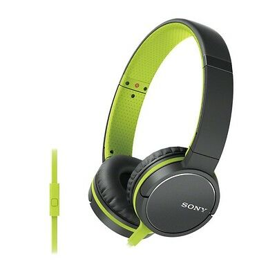 Sony Mdr-Zx660Ap Headphones Lime Green Smartphone Control Lightweight New Sealed