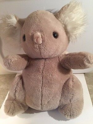 "Vintage Daekor POT BELLY KOALA Bear LARGE stuffed animal plush 16"" 1979"