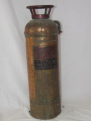 Vintage The Buffalo Fire Extinguisher--Brass &  Copper Tested 350 Pounds