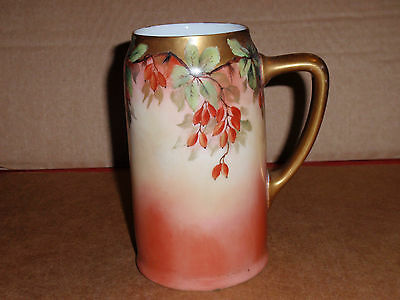 Rare Antique Porcelain Hand Painted Stein / Mug