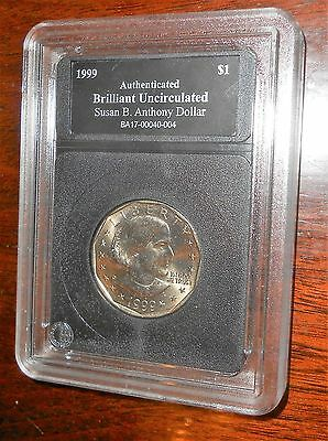 Nice Susan B. Anthony 1999 D Dollar Bu Authenicated From Bradford Exchange Set