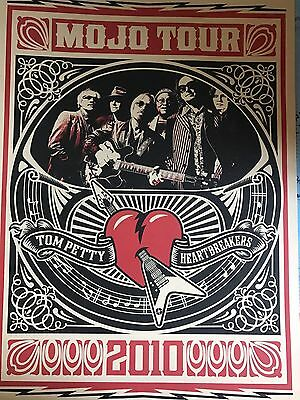 Semi-Rare Tom Petty Mojo 2010 tour poster