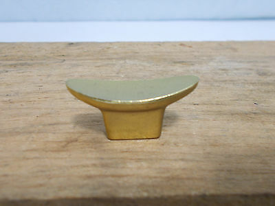 Vintage RETRO MCM BRASS Oblong CONCAVE Drawer CABINET Door HANDLE Knob PULL Gold