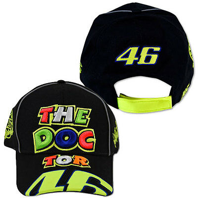Valentino Rossi Vr 46 Mens Ladies Adults The Doctor No 46 Black Cap Hat