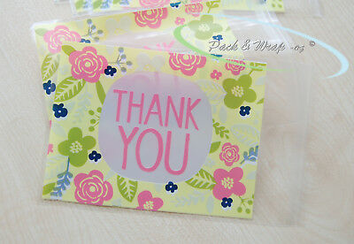 20~100: Thank You flora Gift Bags lolly lollies favours party candy treat cello