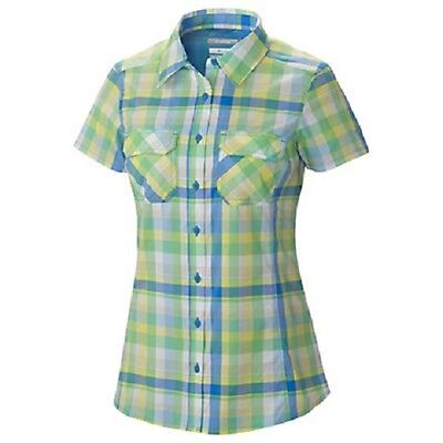 NEW Columbia Women's Saturday Trail III Plaid Short Sleeve Shirt Size XS $60