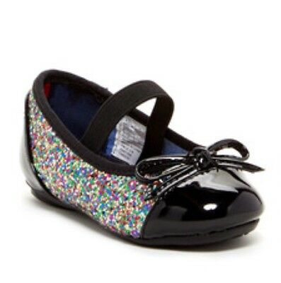 accb0c8c2 Tommy Hilfiger Girls Shoes Kayleigh Ballet Flats Black Patent   Chunky  Glitter 7