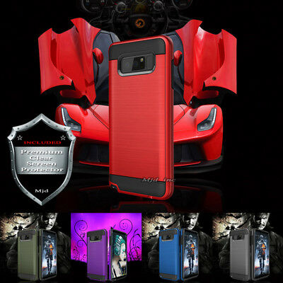 Samsung GALAXY S8 & S8 plus Armor Rubber Rugged Case Cover With Screen Protector