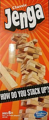 Jenga, Classic Game by Hasbro, Stacking, Wooden Tumble Block, Wood Tower