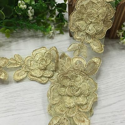 Lace Flower Embroidery Craft DIY Sewing Applique Wedding Bridal Dress 2019