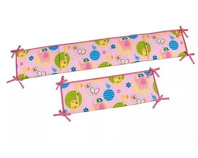 Little Bedding Forever Friends Traditional Padded Bumper 4 Pc. Secure-me Bumper