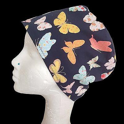 Butterfly Blue Operating Theatre Scrub Caps/Hats - nurse, ODP, surgeon, vet etc