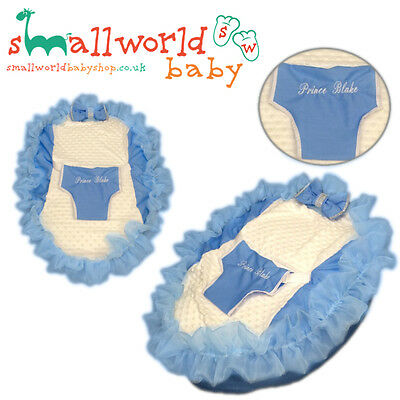 Personalised Blue Bling Baby Bean Bag (NEXT DAY DISPATCH)