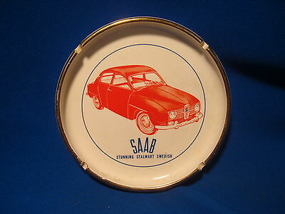 "VINTAGE SAAB Stalwart Swedish CERAMIC 6 3/4"" DEALER SHOWROOM ASHTRAY"