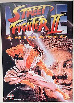 Street Fighter Ii / Original Vintage Large Video Film Poster / Manga