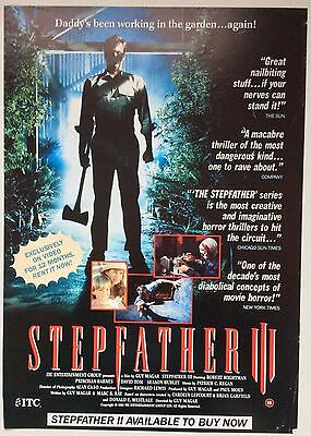 Stepfather Iii / Original Vintage Large Video Film Poster / Robert Wightman