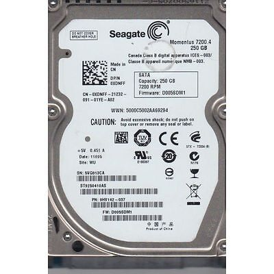 250GB SEAGATE Momentus 2.5 HARD DISK DRIVE 7200RPM ST9250410AS  9HV142-037