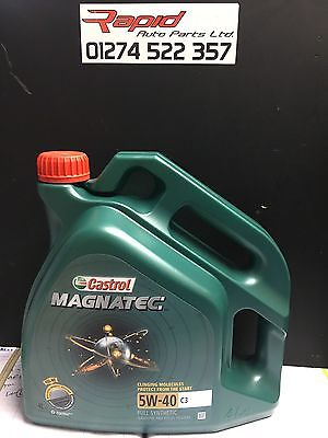 Castrol Magnatec 5W-40 C3 Fully Synthetic Engine Oil 5W40 4 Litres 4L NEW