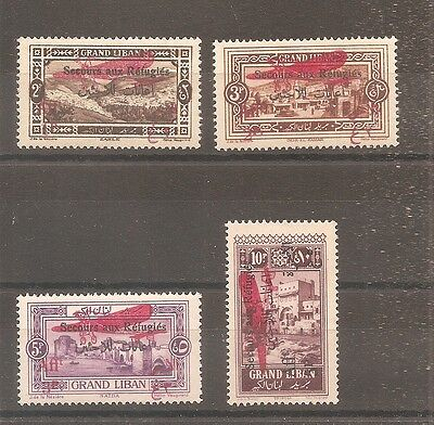 Timbre Grand Liban France Colonie Pa Airmail 1926 N°17/20 Neuf* Mh Syrie