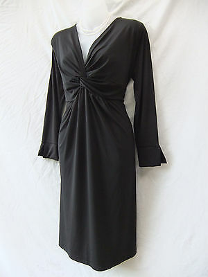Ripe Maternity Dress Size L 14 Black Stretch Long Sleeve Work Occasion Evening