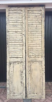 Antique Wooden Shutters X 2 (Shabby Chic Interior)