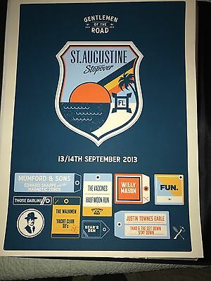 St. Augustine Gentlemen of the Road tour Mumford and Sons concert poster 2013