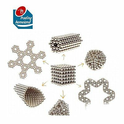 3mm/5mm 216pcs Magnetic Balls Magic Bead EDC Cube Sphere Magnet DIY 3D puzzle UK