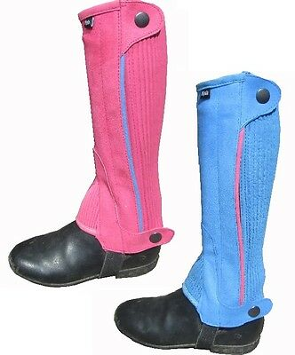Ryda Childrens Amara Horse Riding Chaps Pink Blue Black Red Small Medium Large