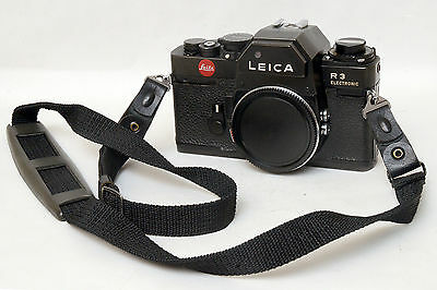Leica R3 R 3 Electronic Solo Body with lid e belt shoulder