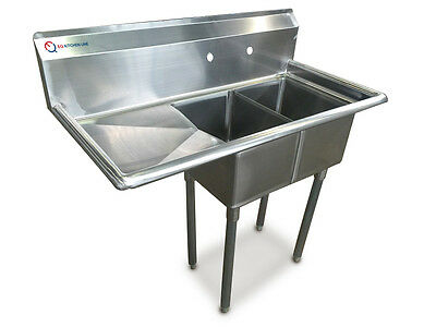 """EQ Compartment Sink Kitchen Commercial Stainless Steel Left 42.5""""X21.5""""X43.75"""""""