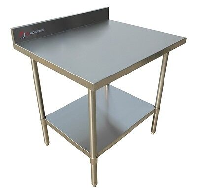 "EQ Heavy Duty Silver Kitchen Restaurant Work Prepare Surfase Table 36""X24""X34"""