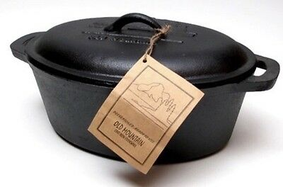 Old Mountain Cast Iron Casserole Dish - PreSeasoned -(New)