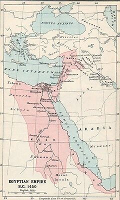 Map of Egyptian Empire  Original Antique 1907