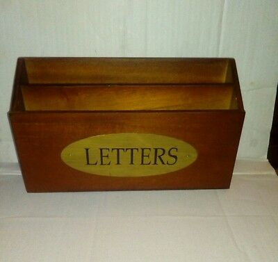 Vintage Style Wooden Letter  Rack Home Rustic Wood