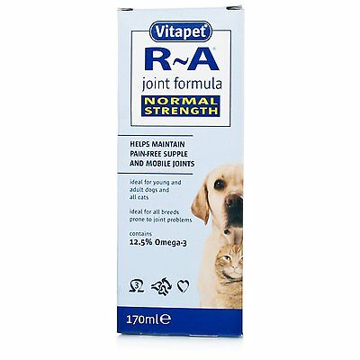 Vitapet R A Joint Formula Helps Pain Free Joints Dog Cat Healthcare 170ml