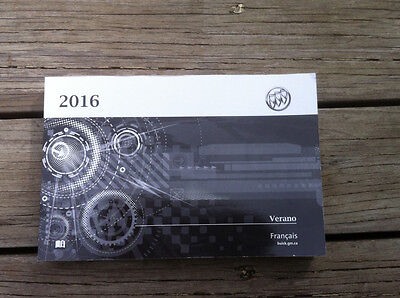 Buick VERANO - 2016 - Owner's Manual - IN FRENCH - XF