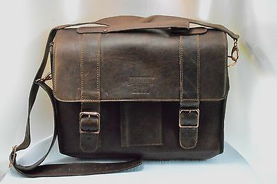 Rare Absolut Elyx Genuine Leather Bartender Bag Copper Tone Hardware Collectible