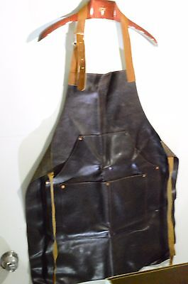 Rare Absolut Elyx Genuine Leather Bartender Apron Adjustable Smock Copper Accent