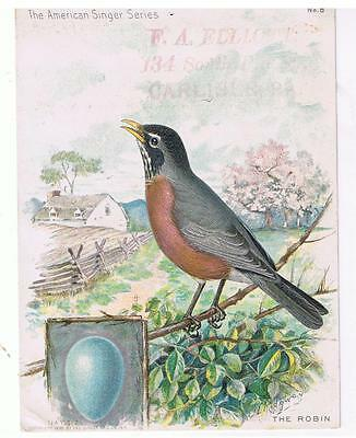 CARLISLE, PA  Antique Victorian Trade Card: The Singer Manufacturing Co.