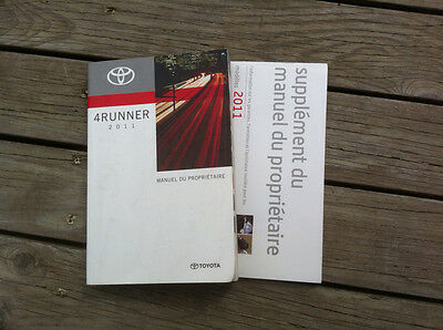 Toyota 4RUNNER - 2011 - Owner's Manual - IN FRENCH - XF