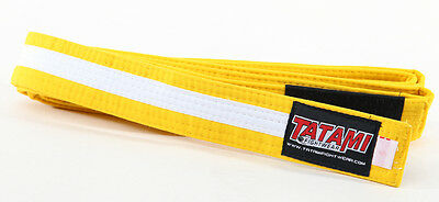 Tatami Fightwear Kids BJJ Rank Belt - M0 - Yellow/White