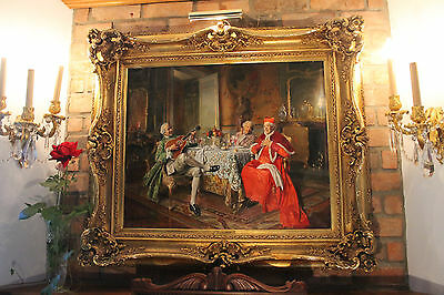Bernard Louis BORIONE- French Listed-Circa 1865-Oil on canvas Painting