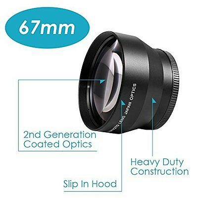 Neewer 67Mm Professional High Definition 2.2X Telephoto Lens For Canon Nikon Pen