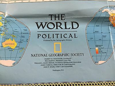 National Geographic The World Physical Map