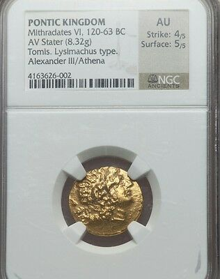 Pontic Kingdom Mithradates AV Stater NGC AU 4/5 Ancient Gold Coin